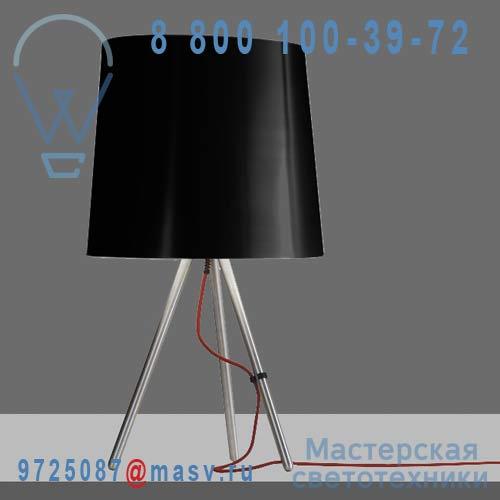 798/NE Lampe a poser M Alu/Noir - EVA Martinelli Luce
