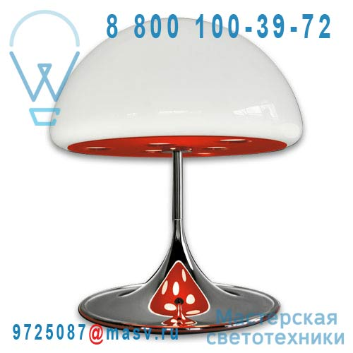 793/RO Lampe a poser M Rouge - MICO Martinelli Luce