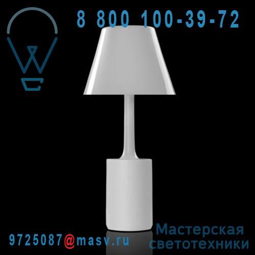 462702500 Lampe a poser Lolita Blanc - LAS SANTAS Metalarte
