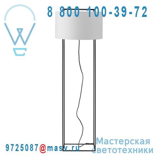 348904700 + 810582501 Lampadaire Noir/Blanc L - LEWIT Metalarte