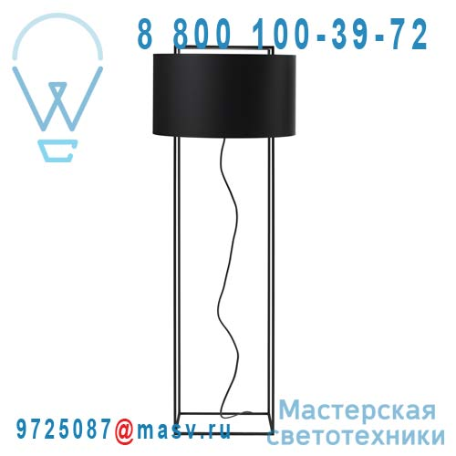 354204700 + 810384700 Lampadaire Noir/Noir S - LEWIT Metalarte