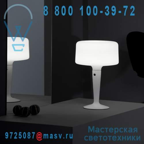 454302500 Lampe Blanc L - LUZIA Metalarte