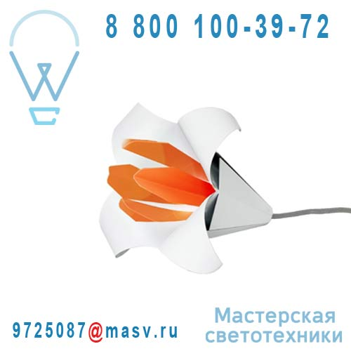 LILIUM GEANT Blanc/orange Lampe Blanc/orange - LILIUM GEANT Nathalie Be