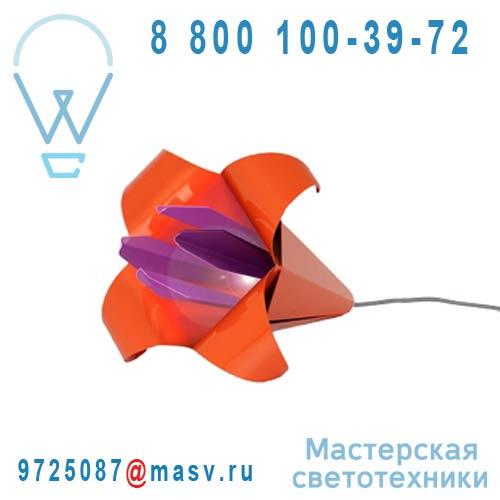 LILIUM GEANT Orange/fuschia Lampe Orange/fuschia - LILIUM GEANT Nathalie Be
