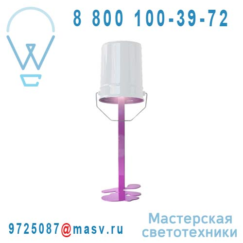 OUPS Lampe Fuschia/blanc Lampe Fuschia/blanc - OUPS Nathalie Be