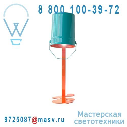 OUPS Lampe Orange/turquoise Lampe Orange/turquoise - OUPS Nathalie Be