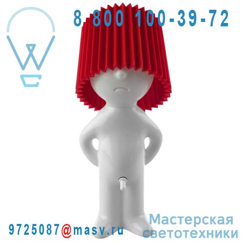 1261905 Lampe a poser Blanc/Rouge - MR P ONE MAN SHY Propaganda