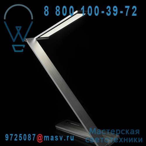 ZR11-D / 9H.W1TQD.WQ1 Lampe de bureau LED Alu - BE LIGHT QisDesign