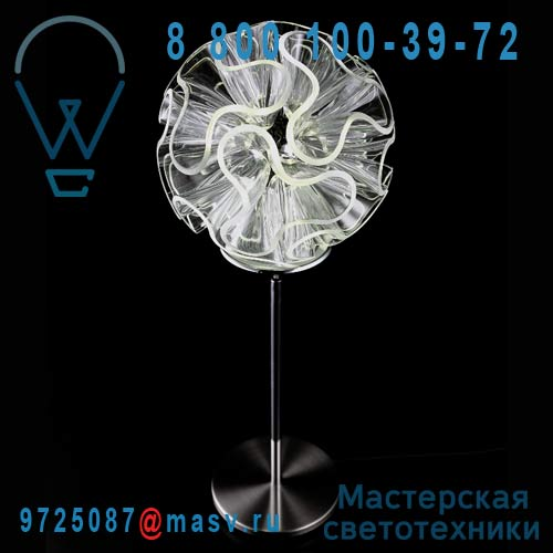 CR01-DR55 Lampe a poser LED M Clear - CORAL QisDesign