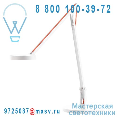 1SRT1 001 63 Lampe de Bureau Blanc Cable Orange - STRING Rotaliana