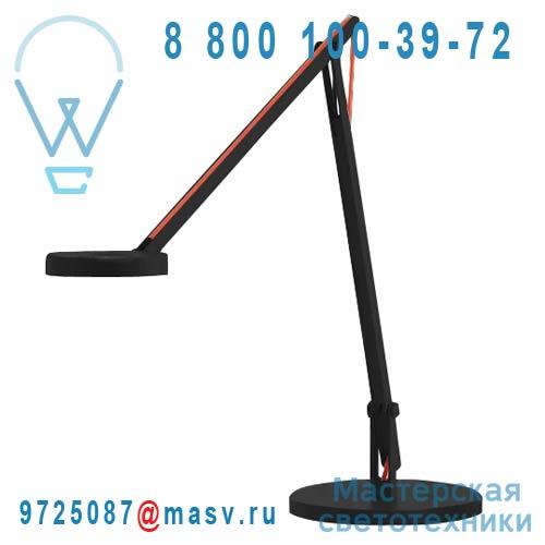 1SRT1 001 62 Lampe de Bureau Noir Cable Orange - STRING Rotaliana