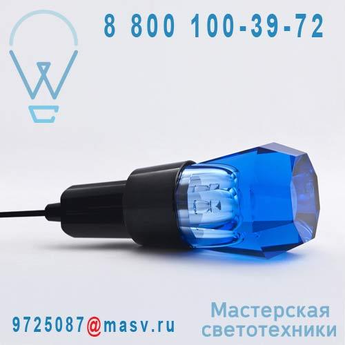 10725 BLU + 10727 Lampe a poser Hexagonale Bleu - CRYSTALED Seletti