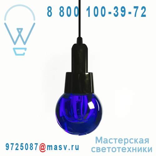 10723 BLU + 10727 Lampe a poser Ronde Bleu - CRYSTALED Seletti