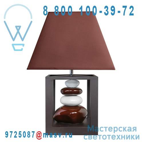 0133342 Lampe a poser Chocolat & Blanc - BALI Seynave
