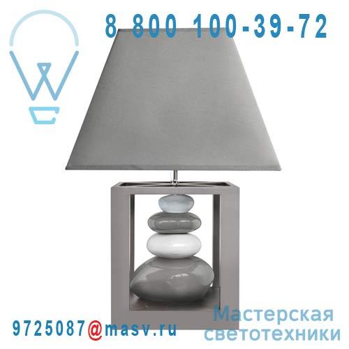 0133335 Lampe a poser Gris & Blanc - BALI Seynave