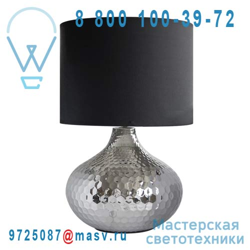 0124517 Lampe a poser Chrome & noir - BANGALORE Seynave