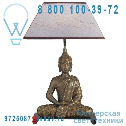 0110756 Lampe a poser Bronze & Beige - BOUDDHA Seynave