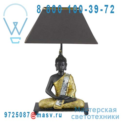 0118127 Lampe a poser Noir & Or - BOUDDHA Seynave