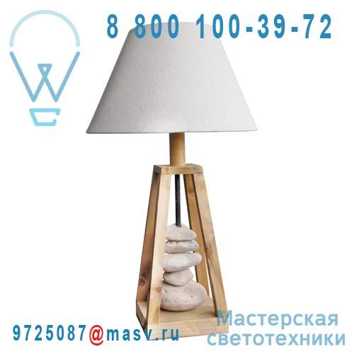0129567 Lampe Bois et Galets - GEORGIA Seynave