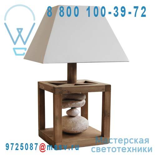 0129550 Lampe a poser Bois et Galets - KAPAS Seynave