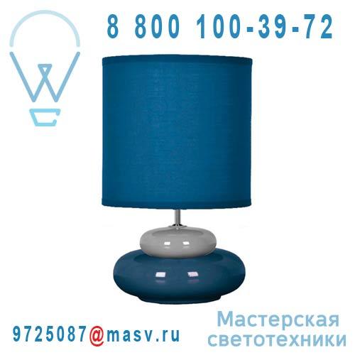 0133281 Lampe a poser Bleu & Gris - LILI Seynave
