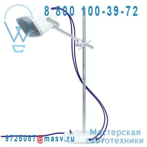 MOB - 11BC05 Lampe a poser Blanc fil prune - MOB Swabdesign