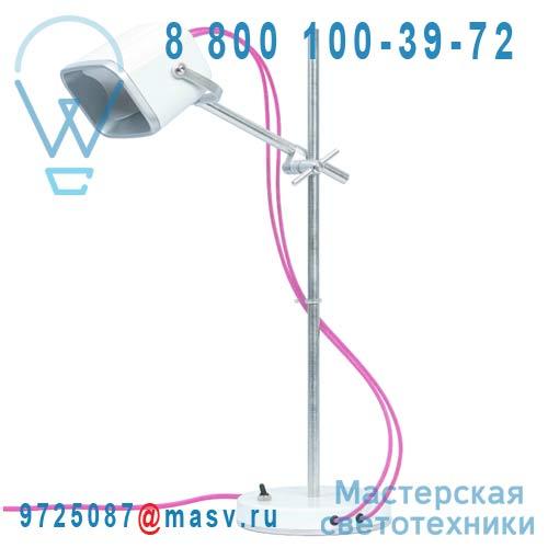 MOB - 11BC21 Lampe a poser Blanc fil rose - MOB Swabdesign