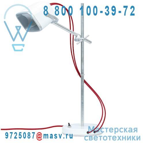MOB - 11BC04 Lampe a poser Blanc fil rouge - MOB Swabdesign