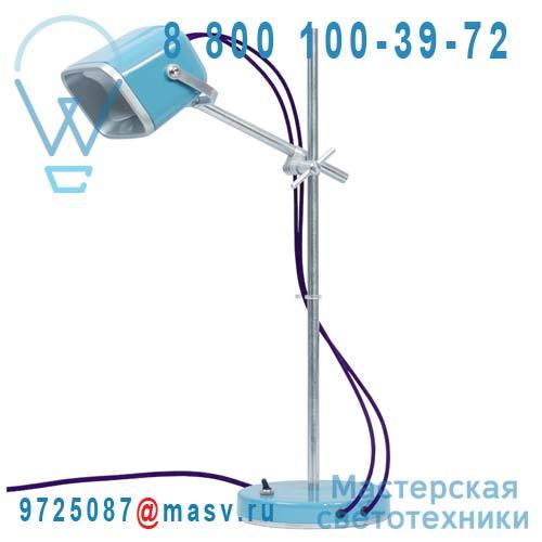 MOB - 11BL05 Lampe a poser Bleu fil prune - MOB Swabdesign