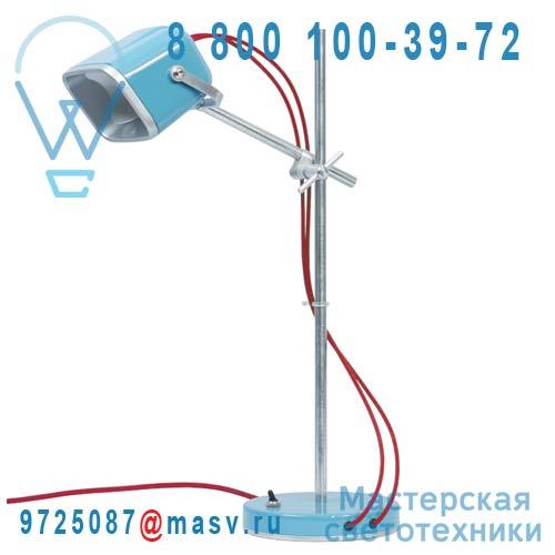 MOB - 11BL04 Lampe a poser Bleu fil rouge - MOB Swabdesign