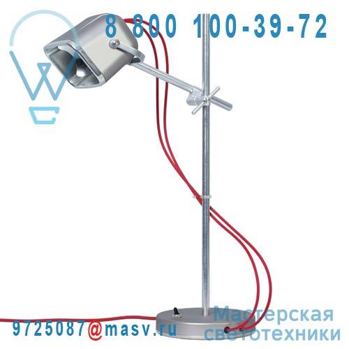 MOB - 11GR04 Lampe a poser Gris mat fil rouge - MOB Swabdesign
