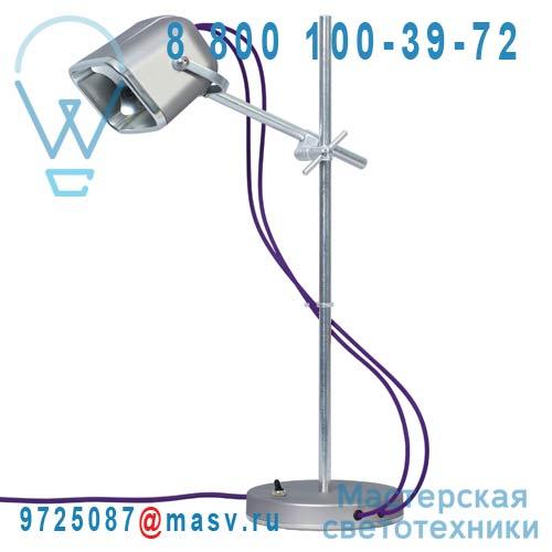 MOB - 11GR05 Lampe a poser Gris mat fil prune - MOB Swabdesign