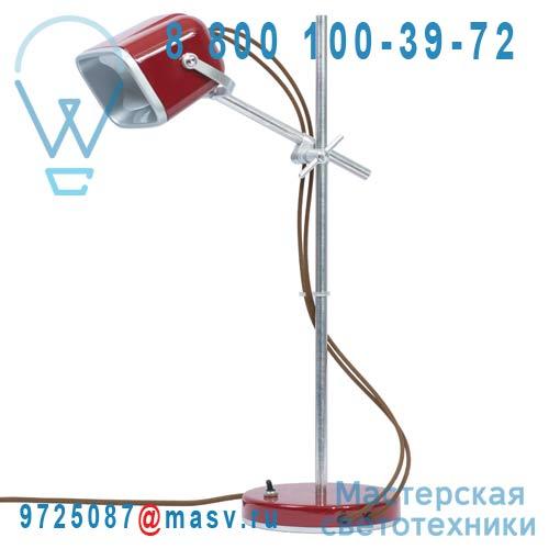 MOB - 11RG08 Lampe a poser Rouge fil marron - MOB Swabdesign