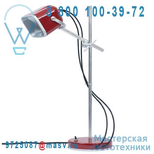 MOB - 11RG02 Lampe a poser Rouge fil noir - MOB Swabdesign