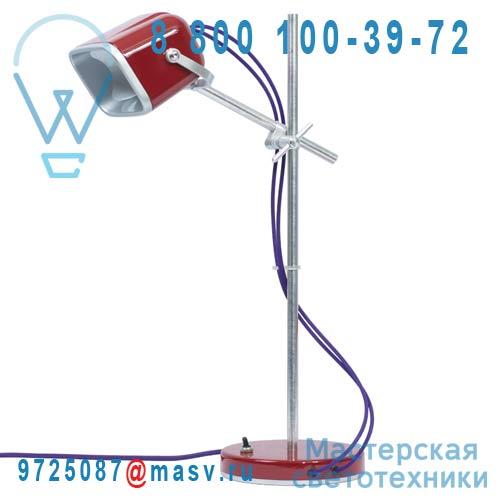 MOB - 11RG05 Lampe a poser Rouge fil prune - MOB Swabdesign