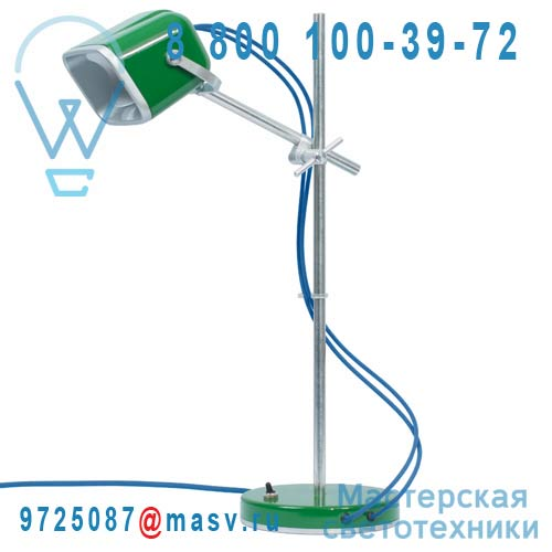 MOB - 11VR06 Lampe a poser Vert fil bleu - MOB Swabdesign