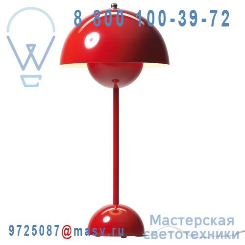 20724201 Lampe de table Rouge - FLOWERPOT & Tradition