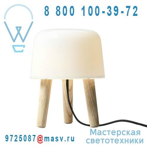 20403094 Lampe pied naturel/fil noir - MILK & Tradition