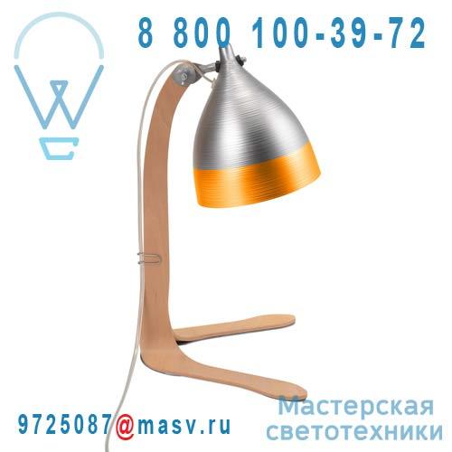 1239 Lampe a poser Alu et Orange - CORNETTE Tse & Tse