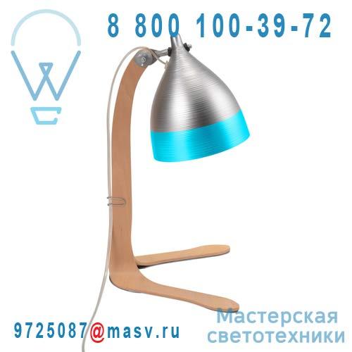 1237 Lampe a poser Alu et Turquoise - CORNETTE Tse & Tse