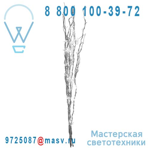 584.07 Branches L LED Argent - WILLOW Xmas Living Glass