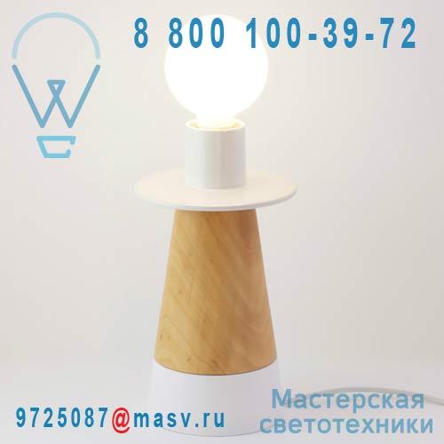 505510 Lampe a poser Blanc - CONE adonde