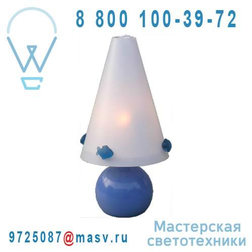 FLP3 Lampe a poser Poisson Bleu Bleu - FLO PETITS Rosemonde et Michel Coudert