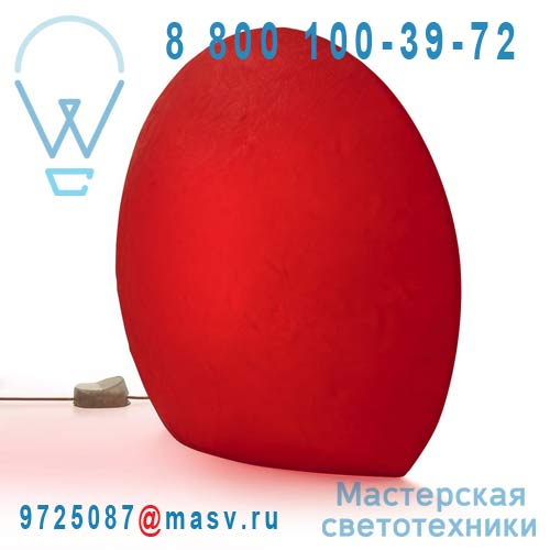 823502 Lampe a poser Exterieure M Rouge - EGGO Authentics