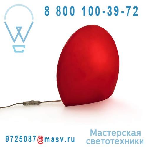 822502 Lampe a poser Exterieure S Rouge - EGGO Authentics