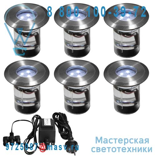 DEC/KITSOL-6ET Kit 6 Spots exterieurs encastrables LED - MINI SOL Lumihome