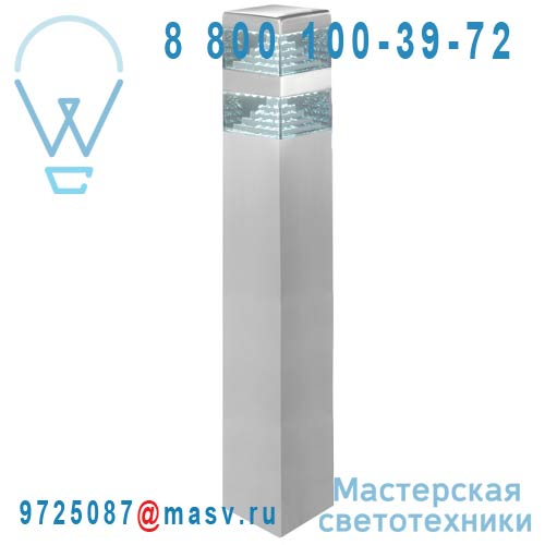DEC/PL60-ET Borne exterieure LED L Alu - PYRAMIDE Lumihome