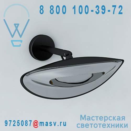 "HAA0101030015 Applique d""exterieur chauffante S Noir/Chrome - HOTDOOR Phormalab"
