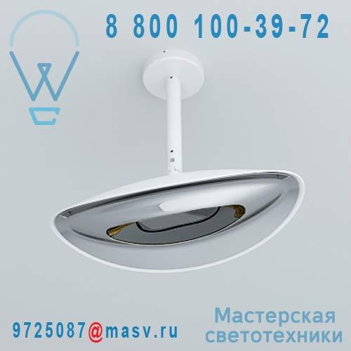 "HBA0102030015 Plafonnier d""exterieur chauffant Blanc/Chrome - HOTDOOR Phormalab"