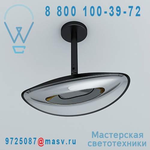 """HBA0101030015 Plafonnier d""""exterieur chauffant Noir/Chrome - HOTDOOR Phormalab"""